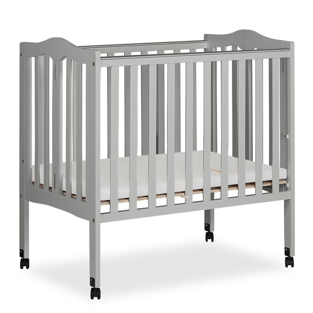 2 in 1 Lightweight Portable Crib - Dream On Me 681-PG