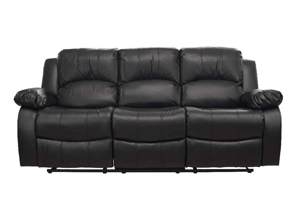 Kaden Bonded Leather Recliner Sofa In