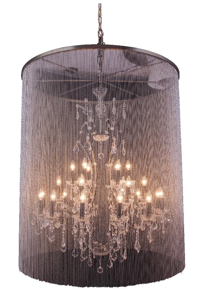 Elegant Lighting Light Matte Black Chandelier Clear Cut Crystal