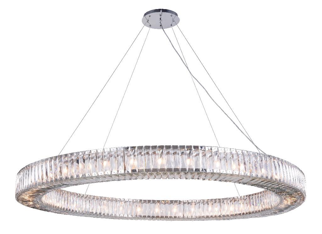 Lighting Chrome Chandelier Light Cut Crystal