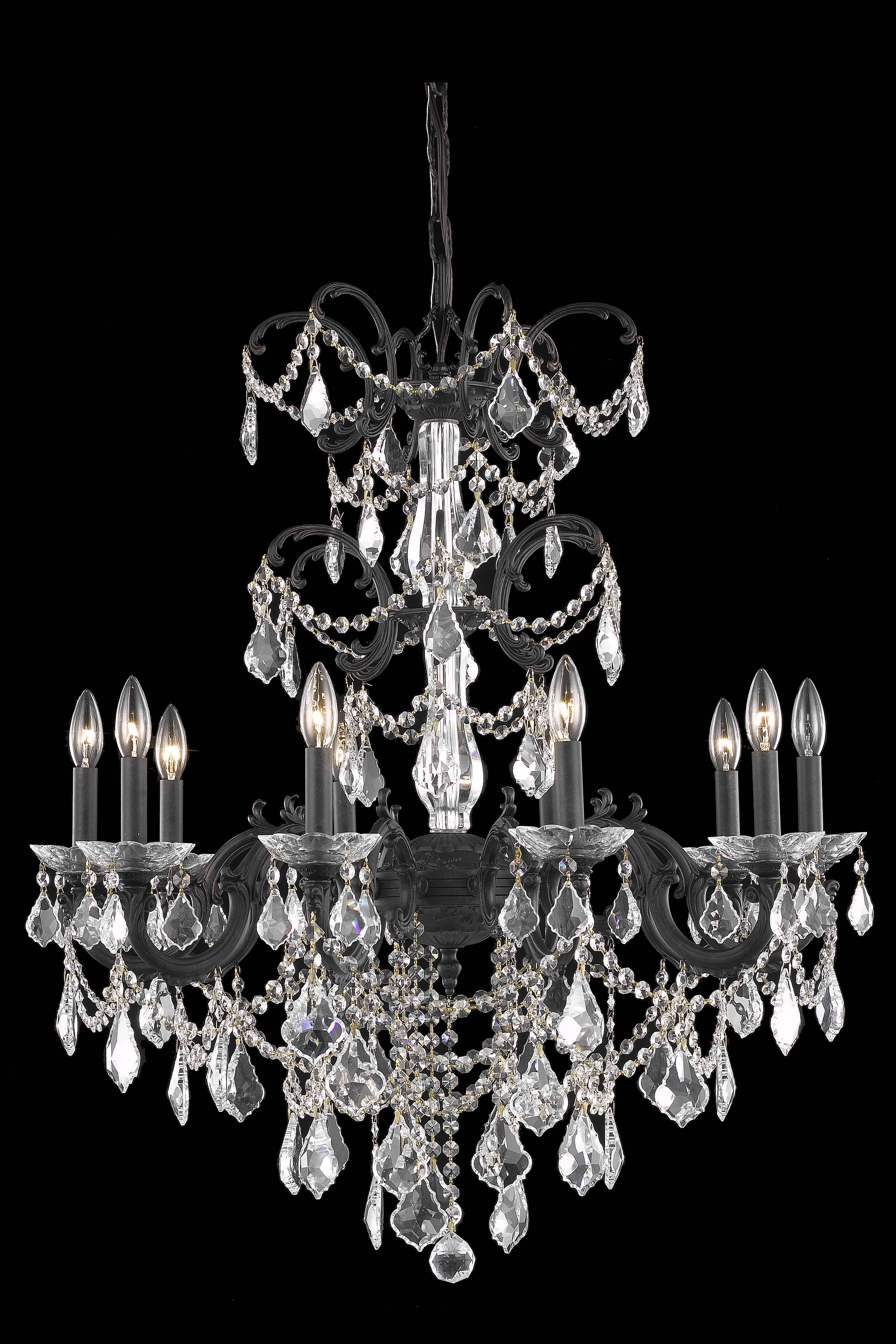 Lighting Furniture Bronze Chandelier Light Cut Crystal Photo