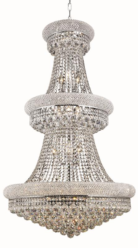 Lighting Chrome Chandelier Light Cut Crystal
