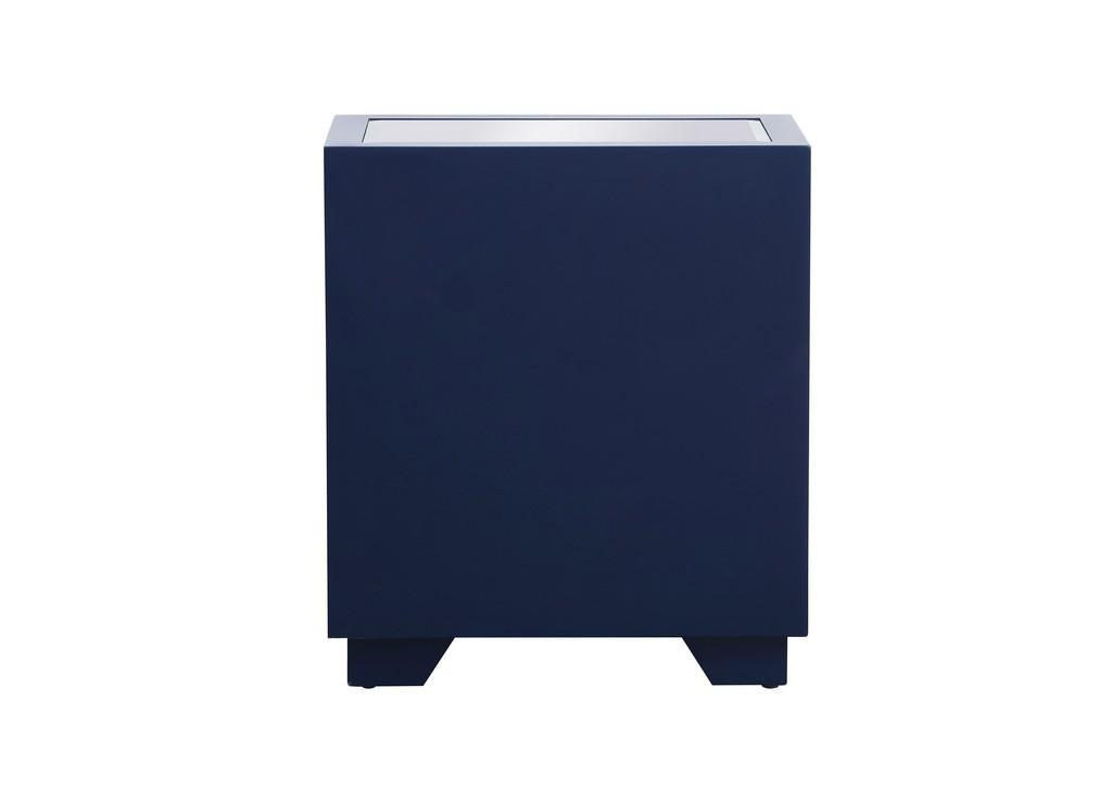 21 inch mirrored chest in blue - Elegant Lighting MF53016BL