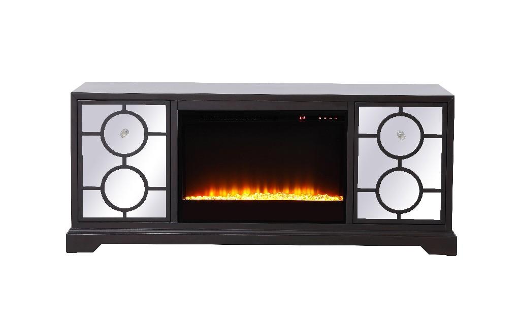Lighting Furniture Tv Stand Mirrored Fireplace Insert Photo