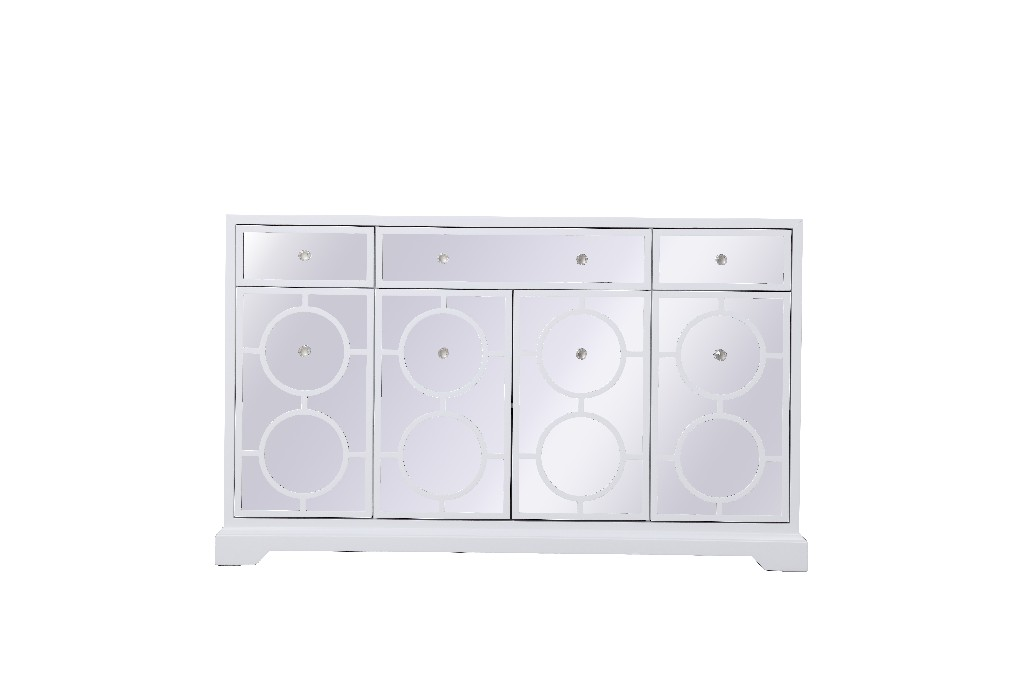 Lighting Mirrored Credenza