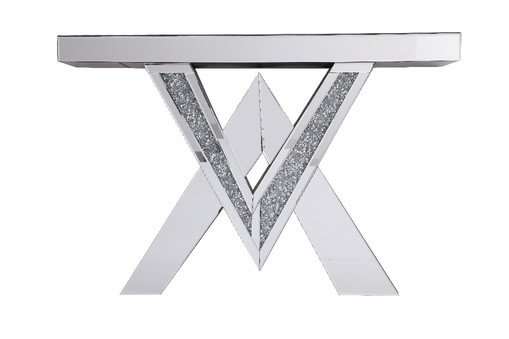 Lighting Mirrored Console Table