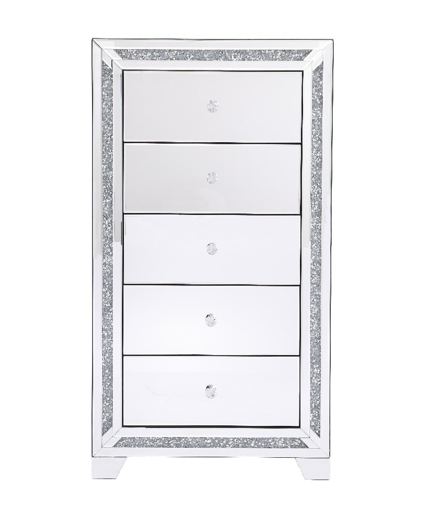 Lighting Cabinet Mirrored Drawer