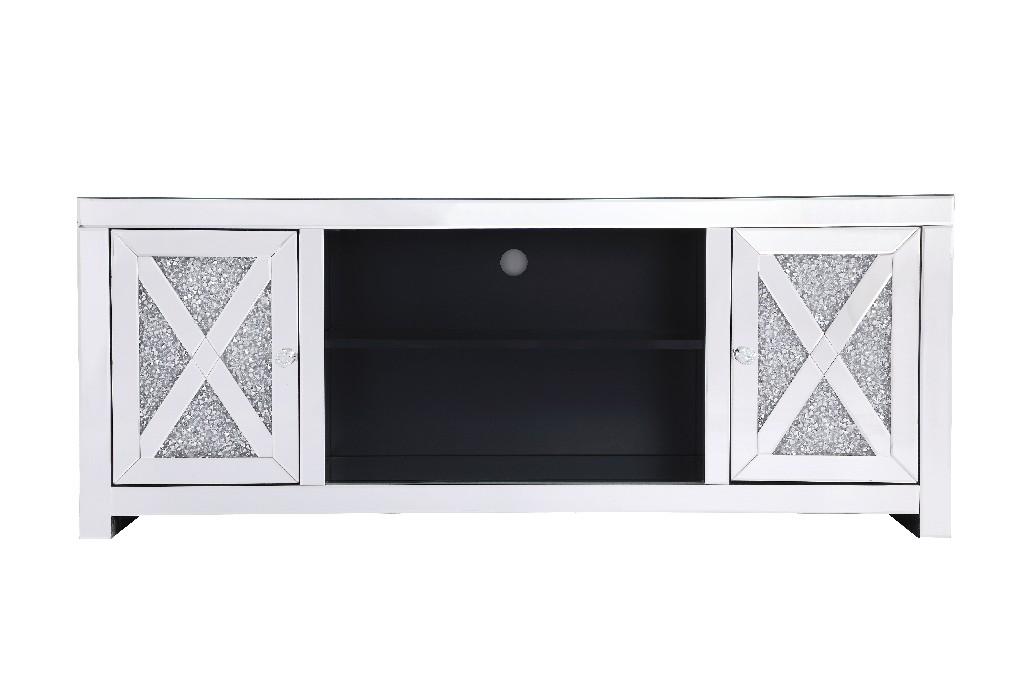 Elegant Lighting Mirrored Tv Stand