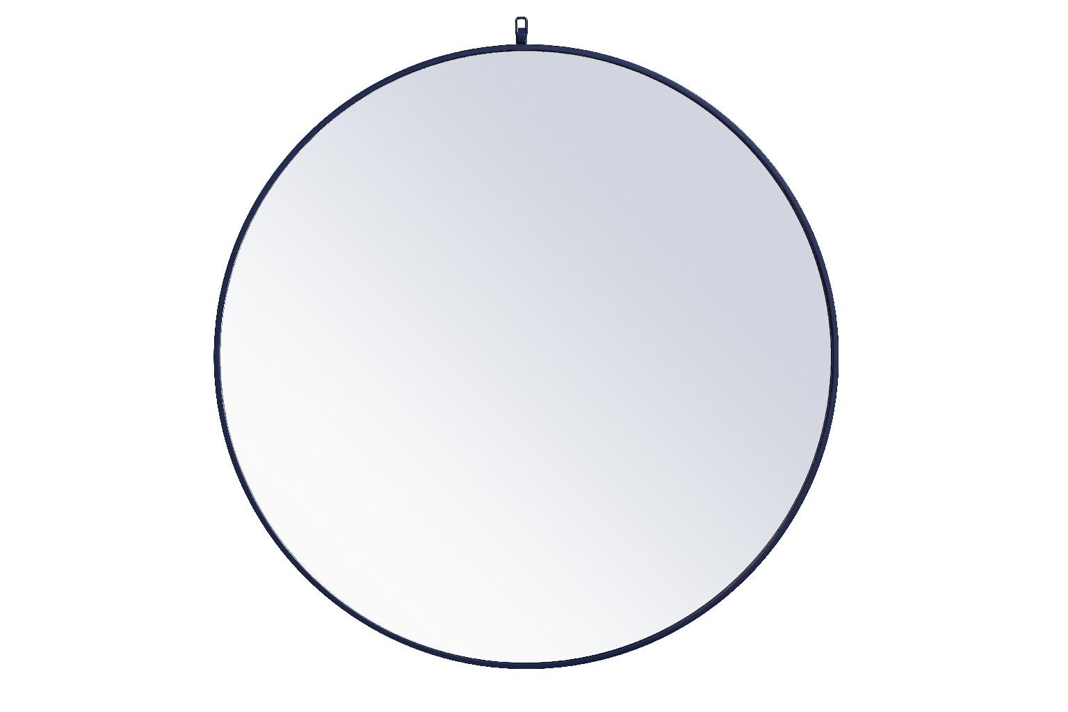 Decorative   Elegant   Mirror   Metal   Round   Frame   Light   Hook   Blue