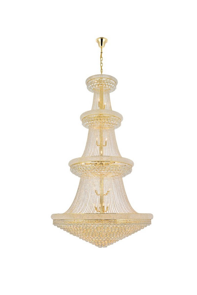 Primo Light Gold Chandelier Clear Cut Crystal
