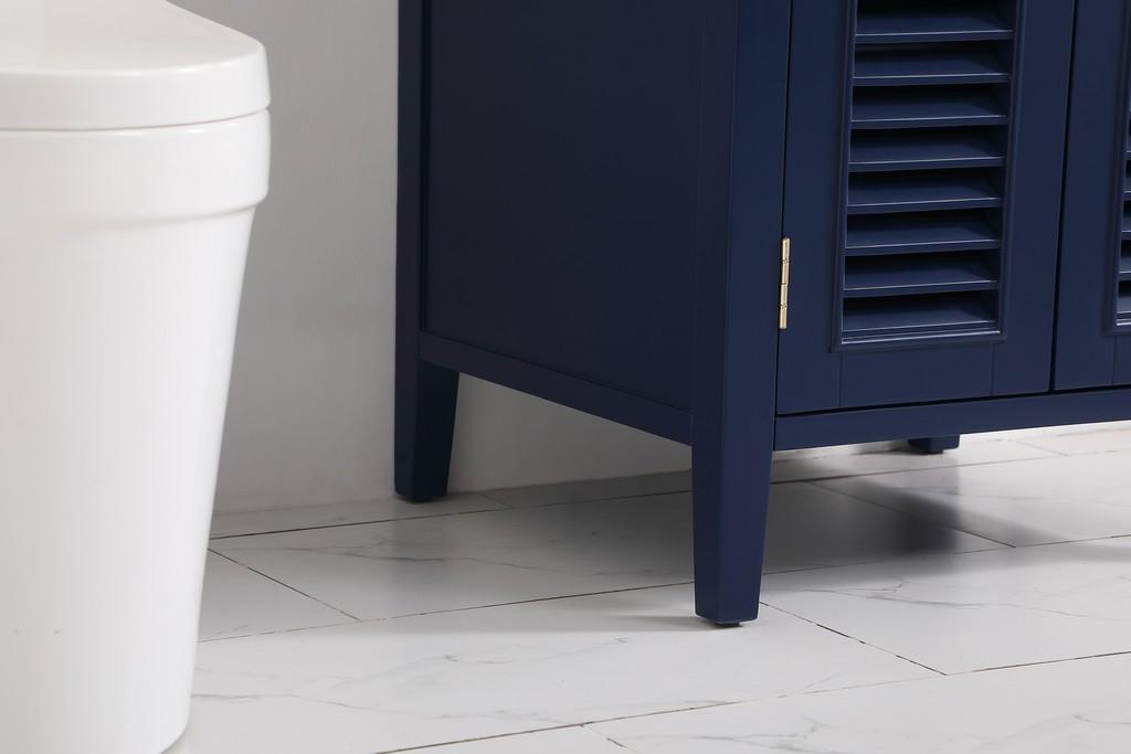 24 inch single bathroom vanity in Blue - Elegant Lighting VF10424BL