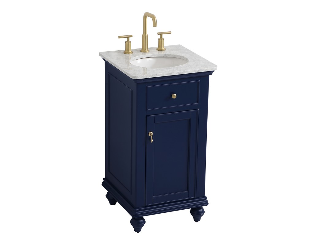 19 inch single bathroom vanity in blue - Elegant Lighting VF12319BL