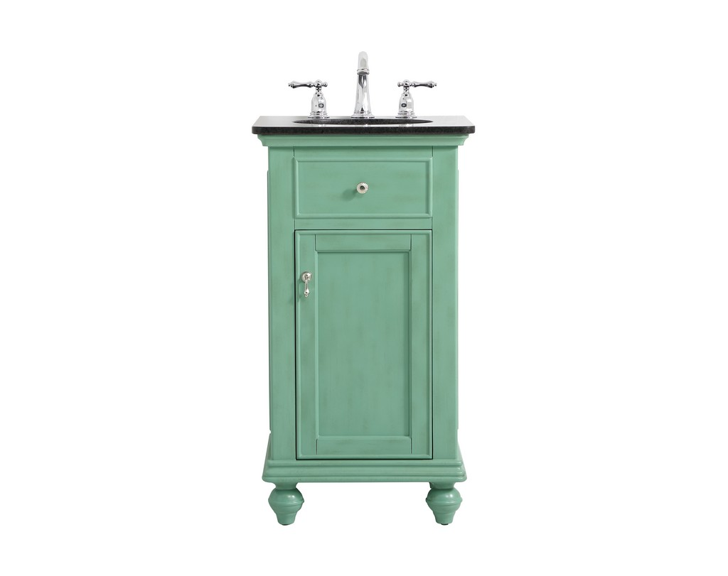 19 inch single bathroom vanity in vintage mint - Elegant Lighting VF12319VM
