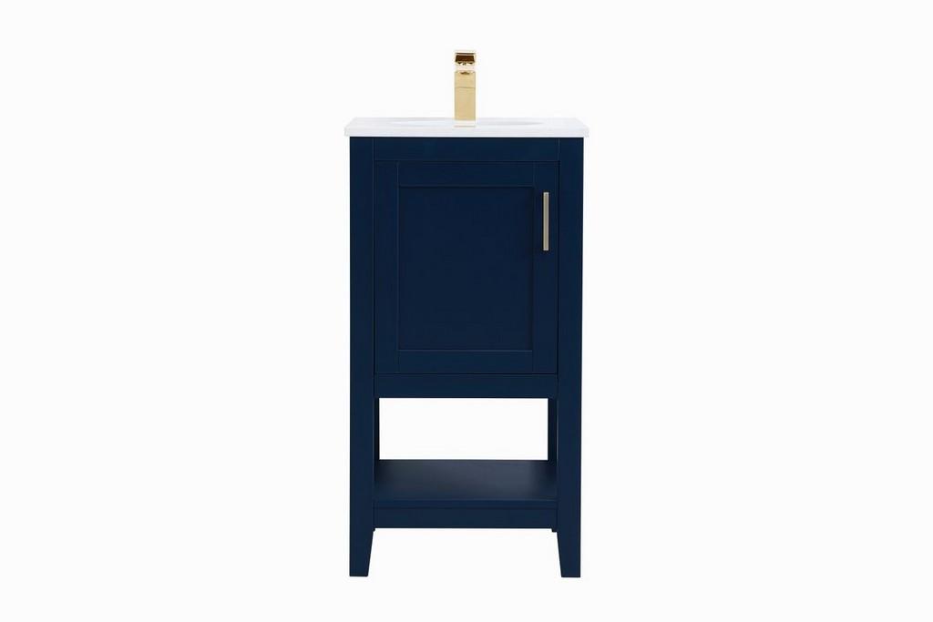 Single Bathroom Vanity Blue