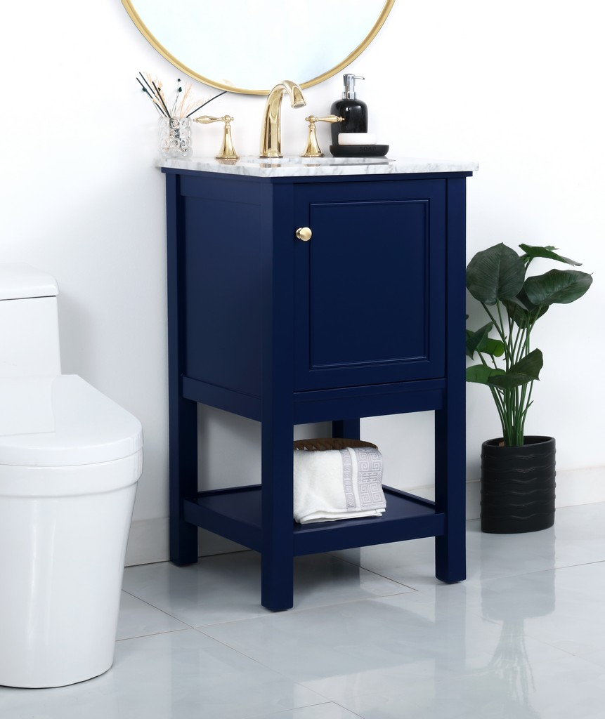 19 inch single bathroom vanity in Blue - Elegant Lighting VF27019BL