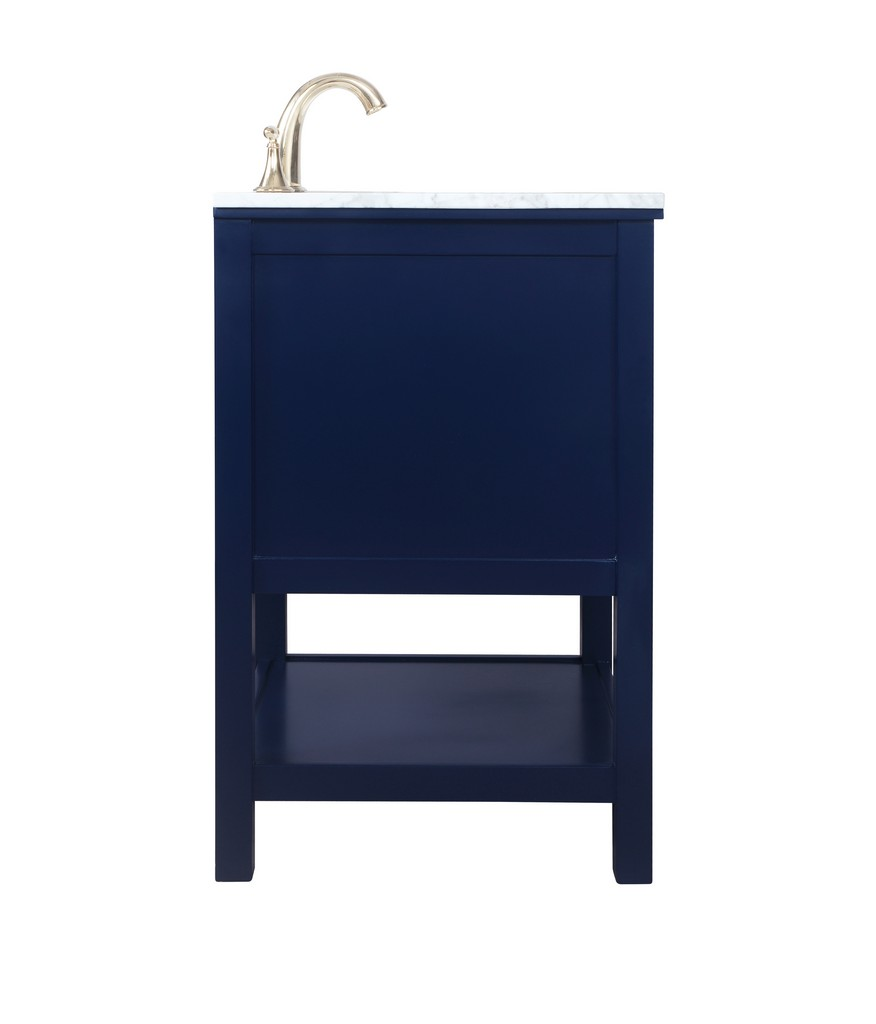 24 inch single bathroom vanity in Blue - Elegant Lighting VF27024BL
