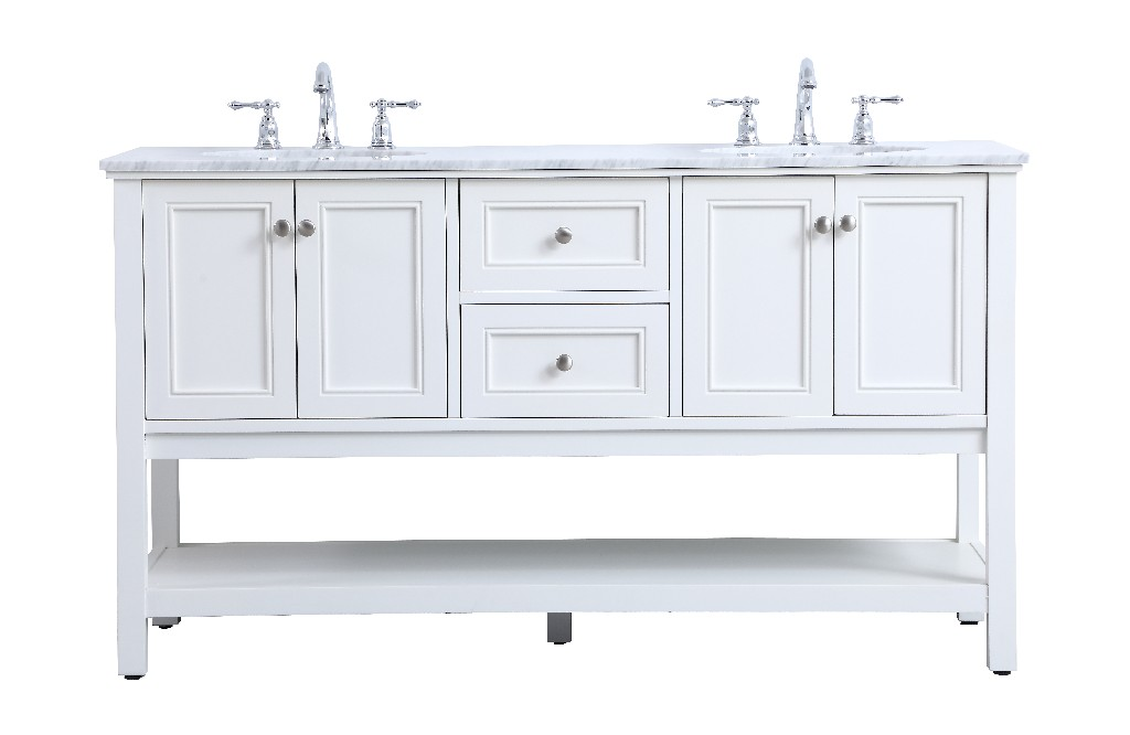 Elegant Lighting Double Sink Bathroom Vanity Set