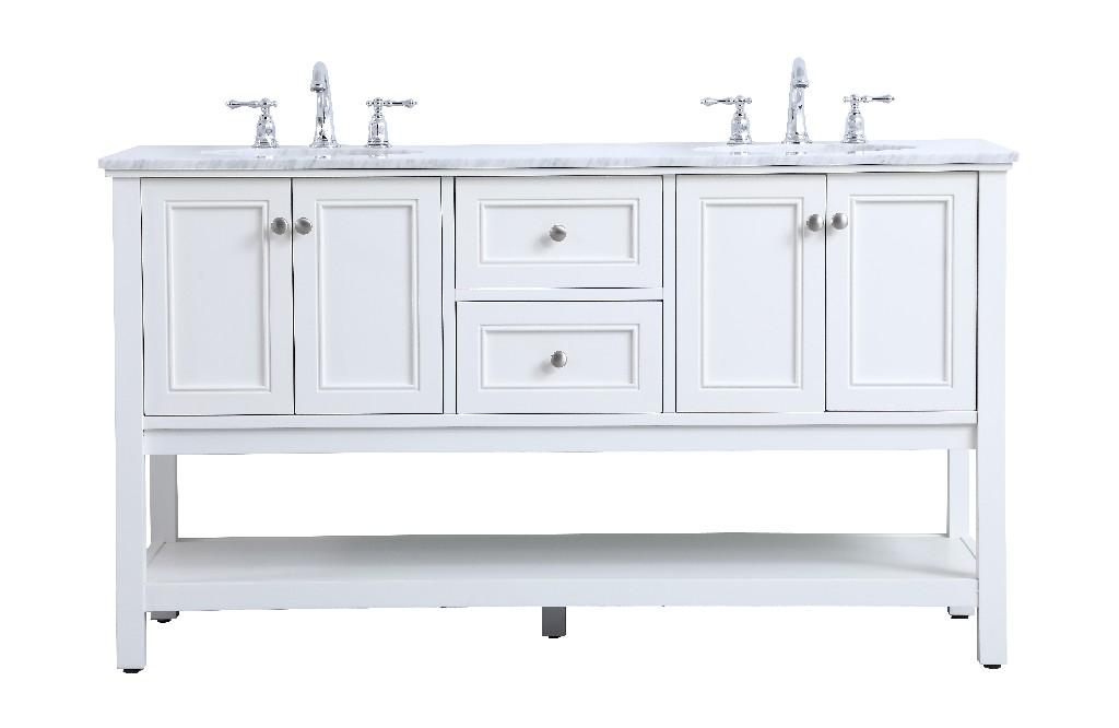 Lighting Double Sink Bathroom Vanity Set