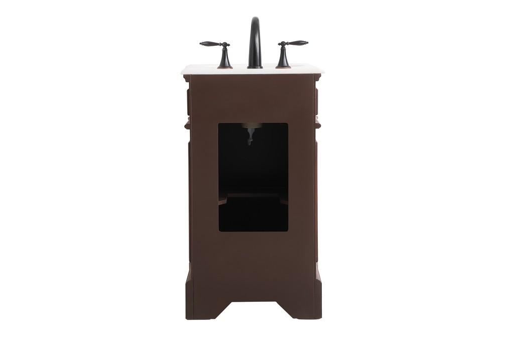 19 inch single bathroom vanity in Teak - Elegant Lighting VF30419TK