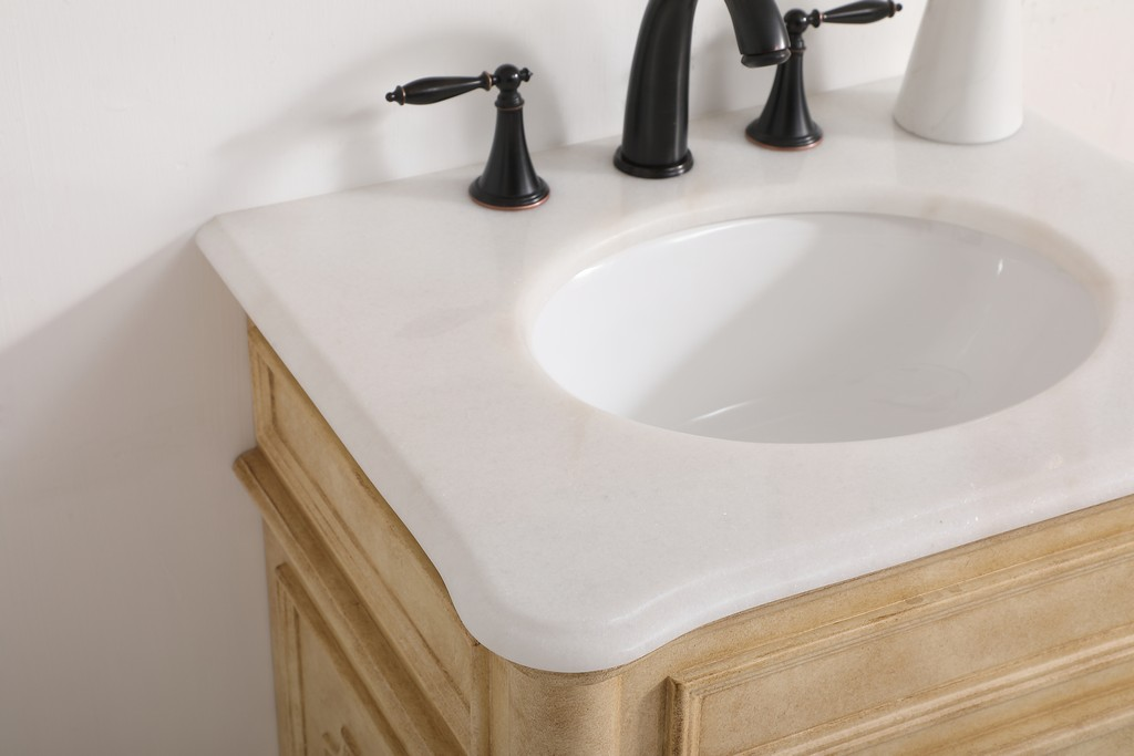 24 inch single bathroom vanity in Antique Beige - Elegant Lighting VF30424AB