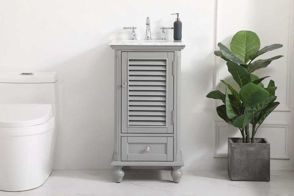 19 inch single bathroom vanity in grey - Elegant Lighting VF30519GR