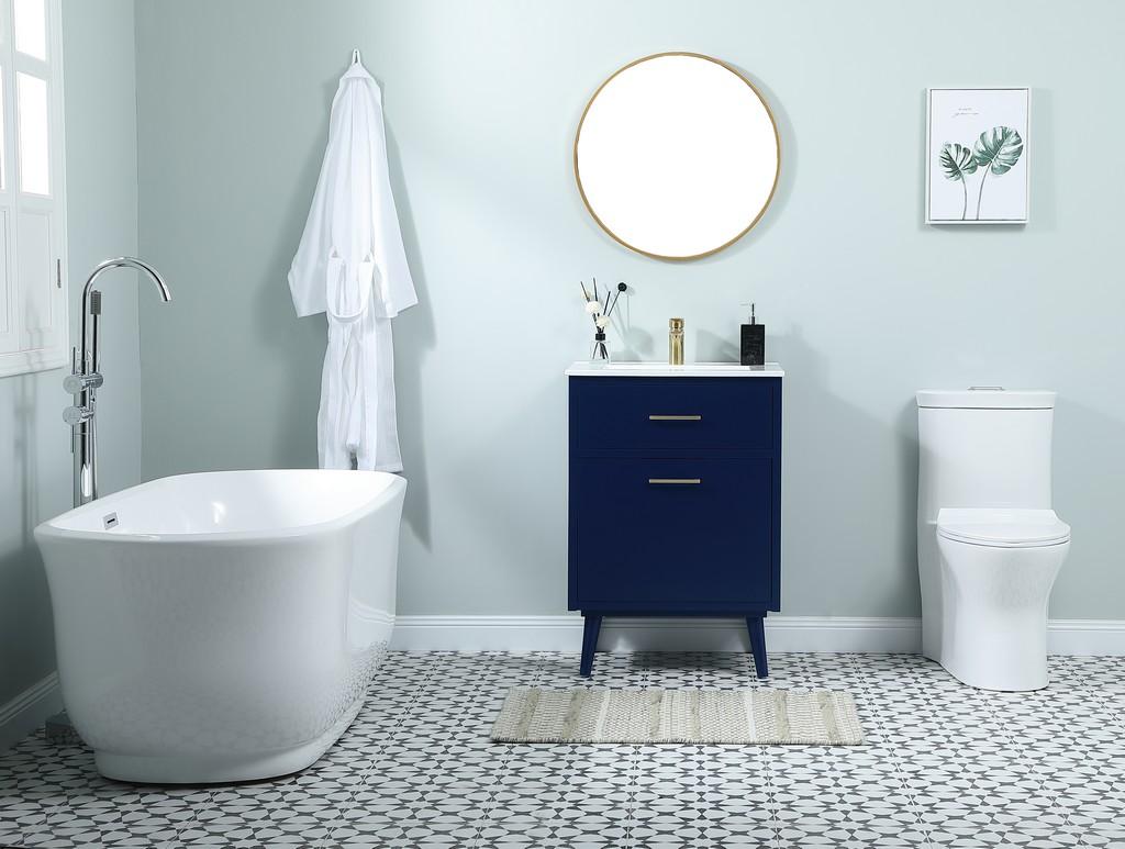 24 inch bathroom vanity in Blue - Elegant Lighting VF41024MBL