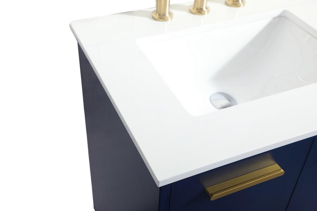 24 inch bathroom vanity in Blue - Elegant Lighting VF47024MBL