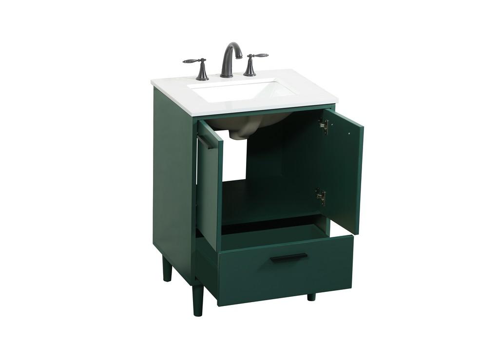 24 inch bathroom vanity in Green - Elegant Lighting VF47024MGN