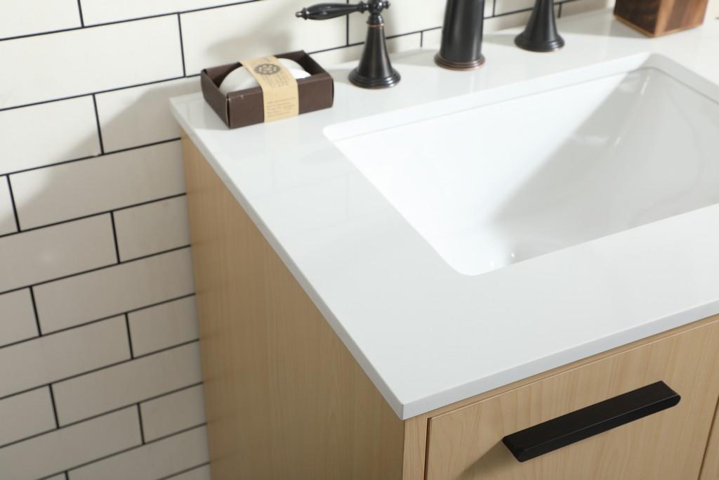 24 inch bathroom vanity in Maple - Elegant Lighting VF47024MMP