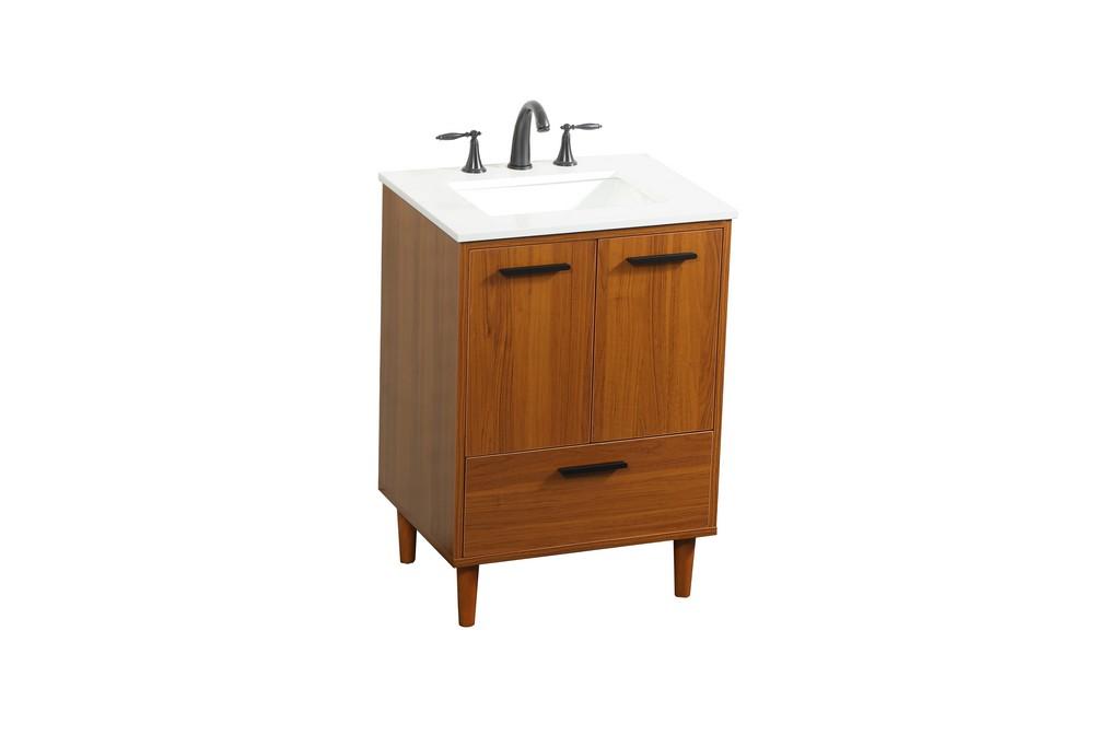 24 inch bathroom vanity in Teak - Elegant Lighting VF47024MTK