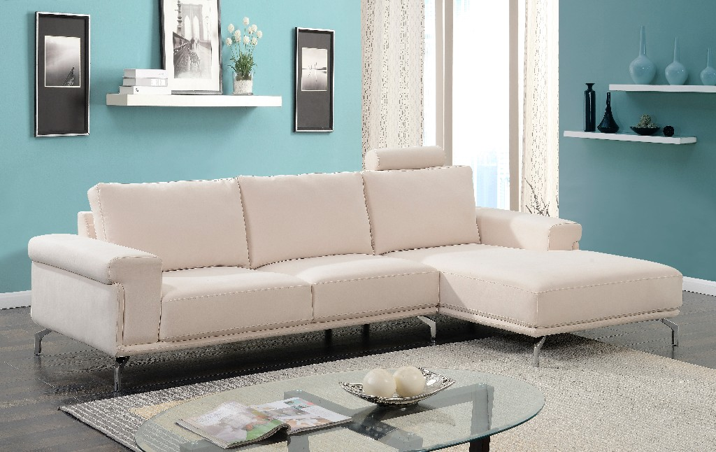 Myco Jackson Beige Fabric Sectional