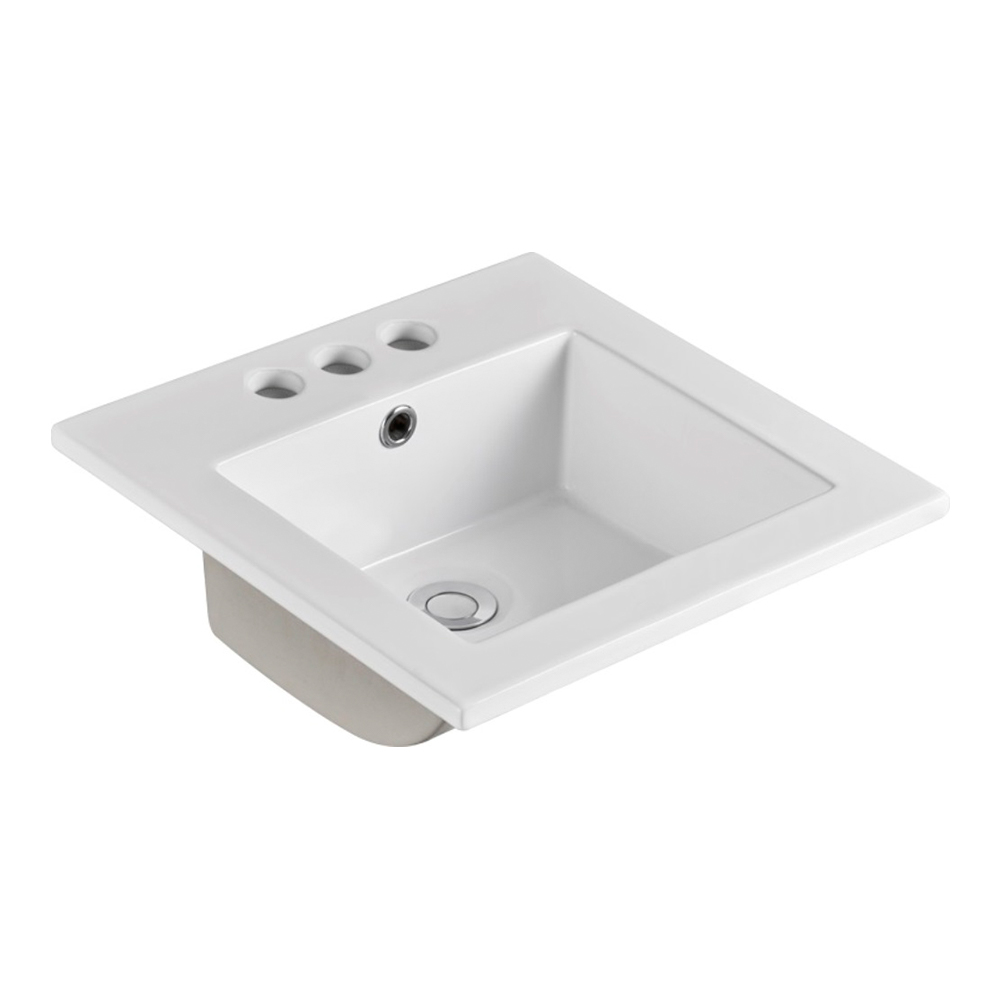 16 in. Single sink Ceramic top - BellaTerra 301616