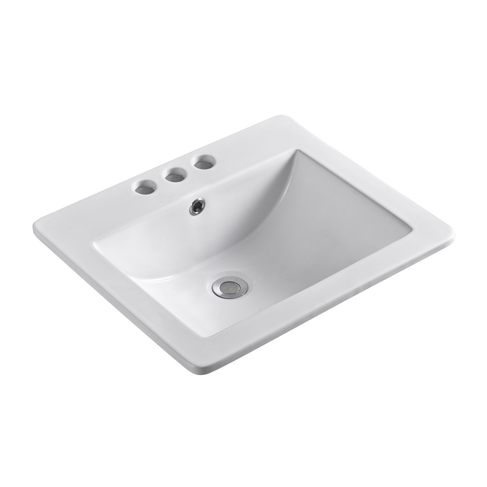 21 in. Single sink Ceramic top - BellaTerra 302118