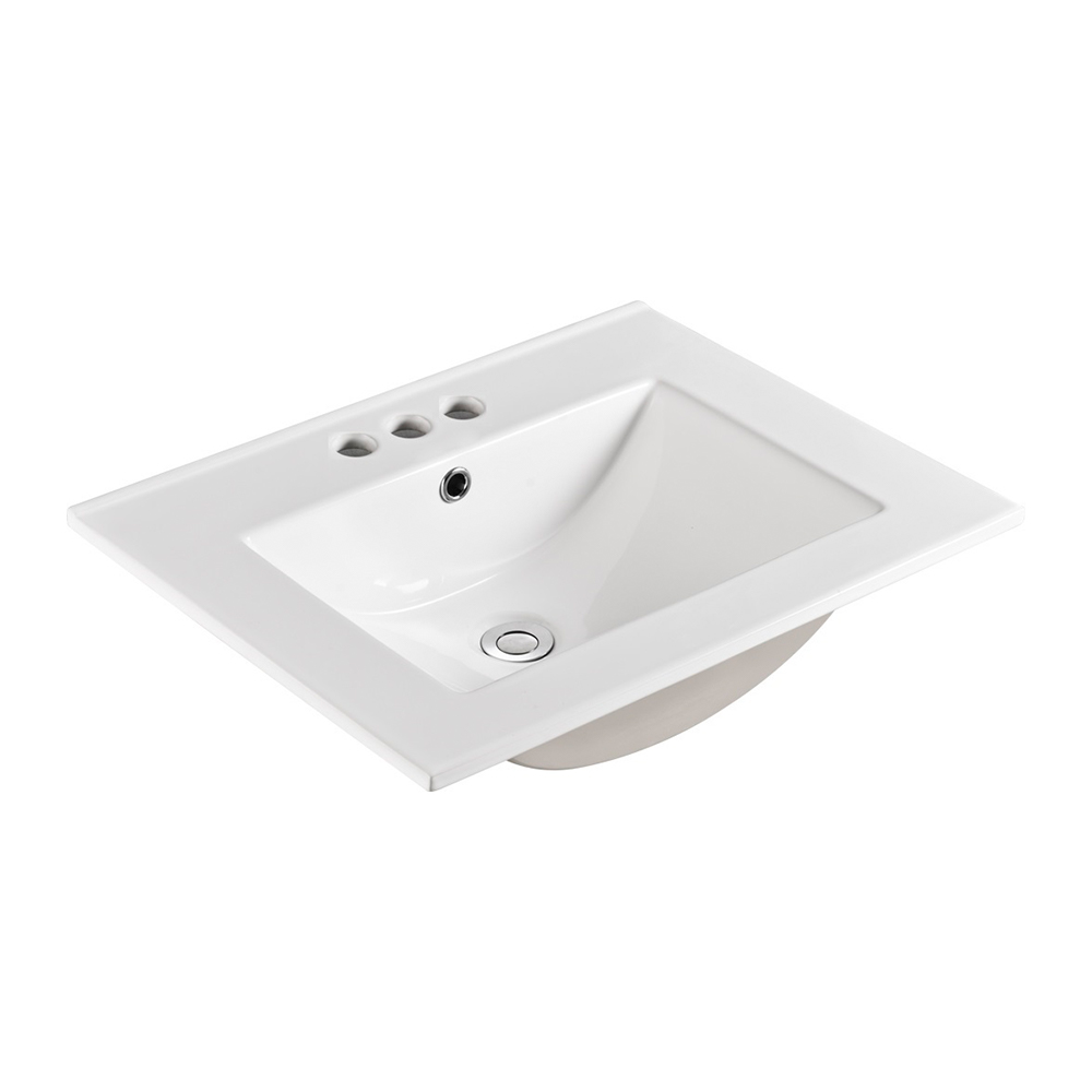 24 in. Single sink Ceramic top - BellaTerra 302418