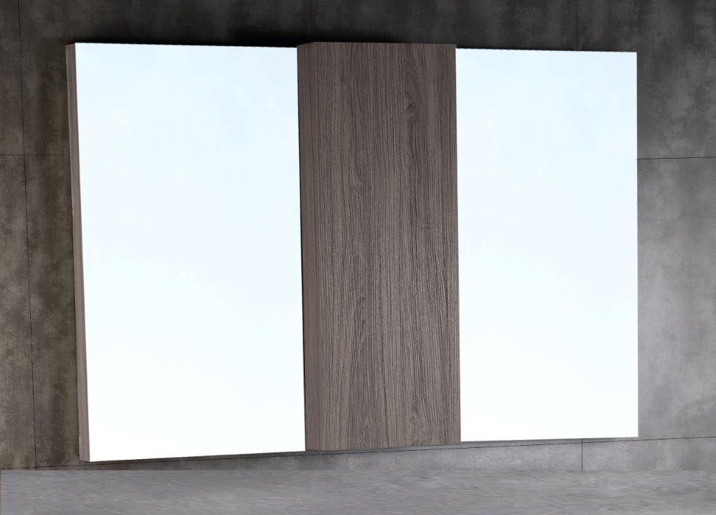 Bellaterra Wood Framed Mirror Cabinet