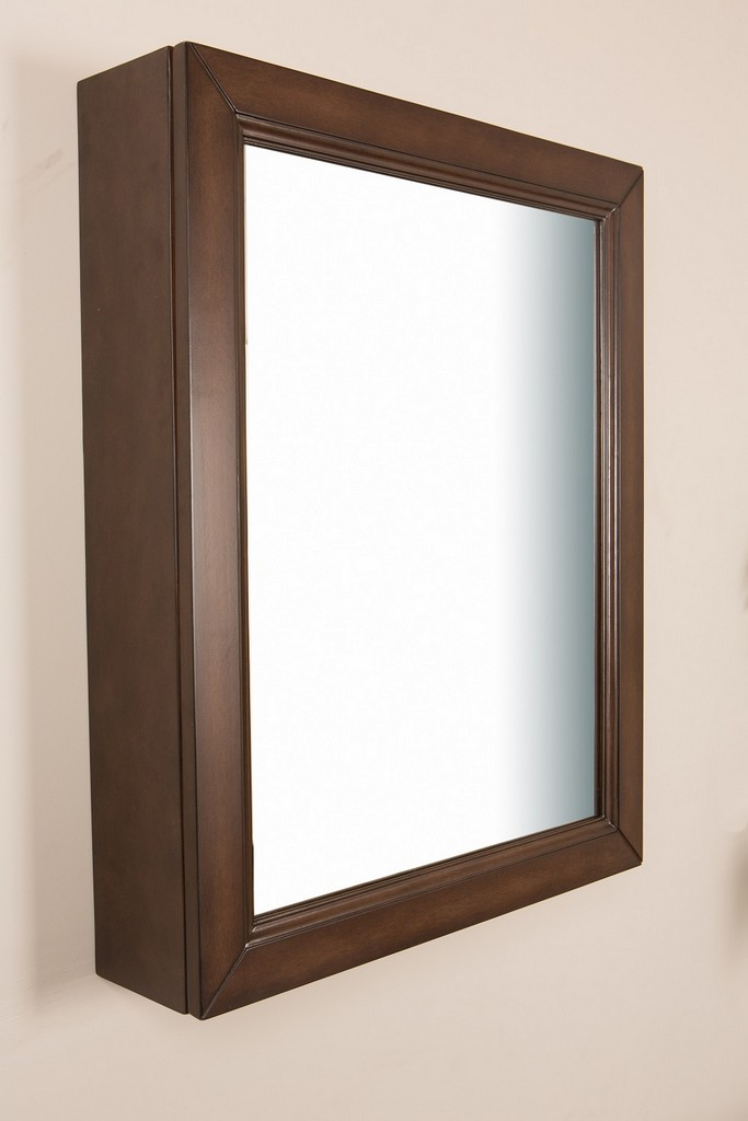 24 in Mirror cabinet-wood-sable walnut - BellaTerra 7611-MC-SW