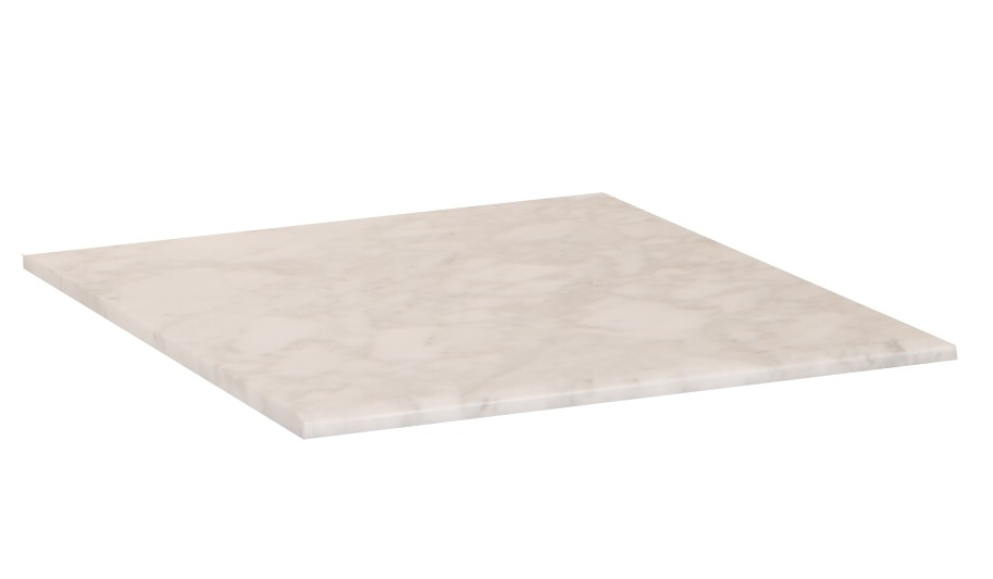 16 in. White carrara marble top - BellaTerra 7711-TOP-WH