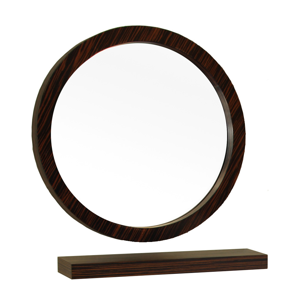 21.7 in Round mirror-wood-Ebony-Zebra - BellaTerra 804338-MIRROR