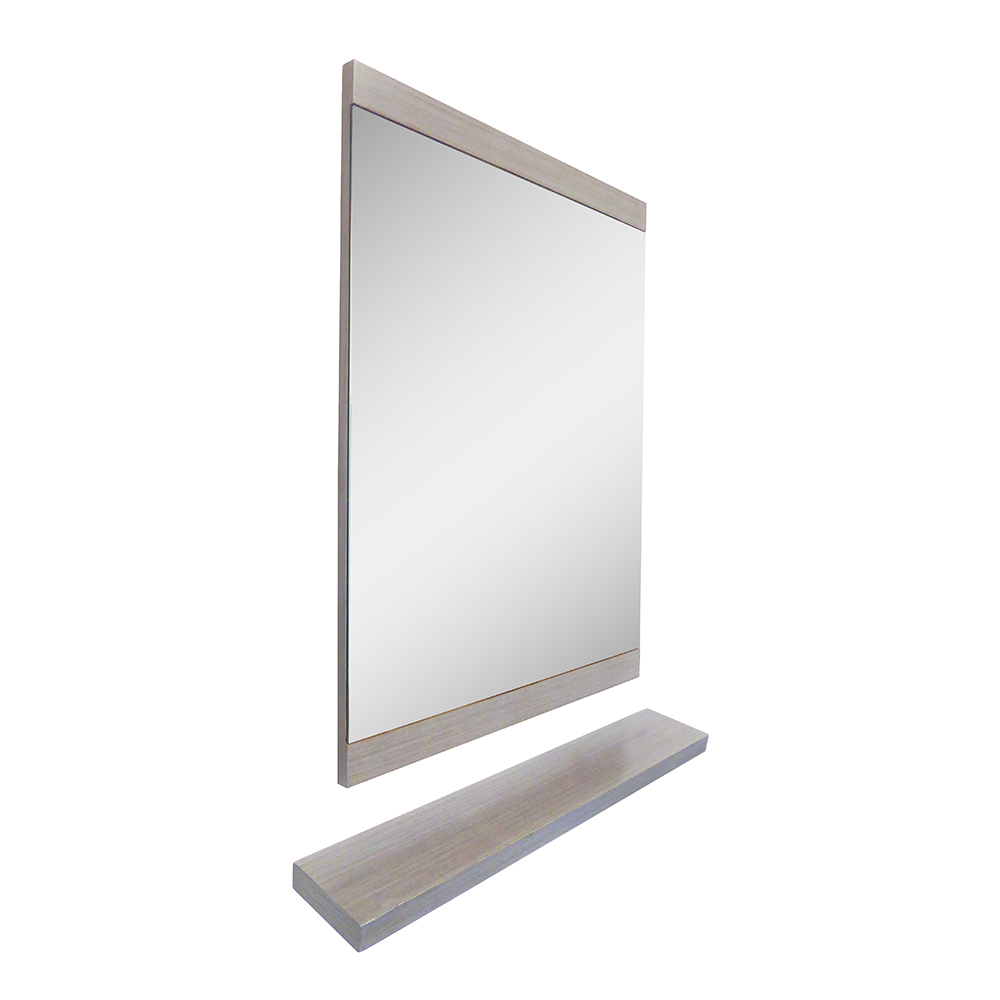 23.6 in Mirror-wood-gray - BellaTerra 804353-MIRROR-GY