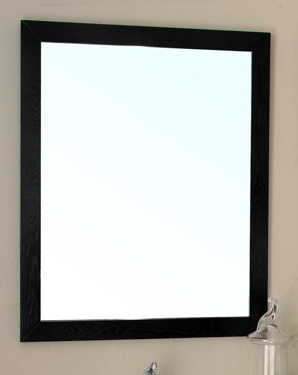23.6 in Mirror-black -wood - BellaTerra 804375-MIRROR