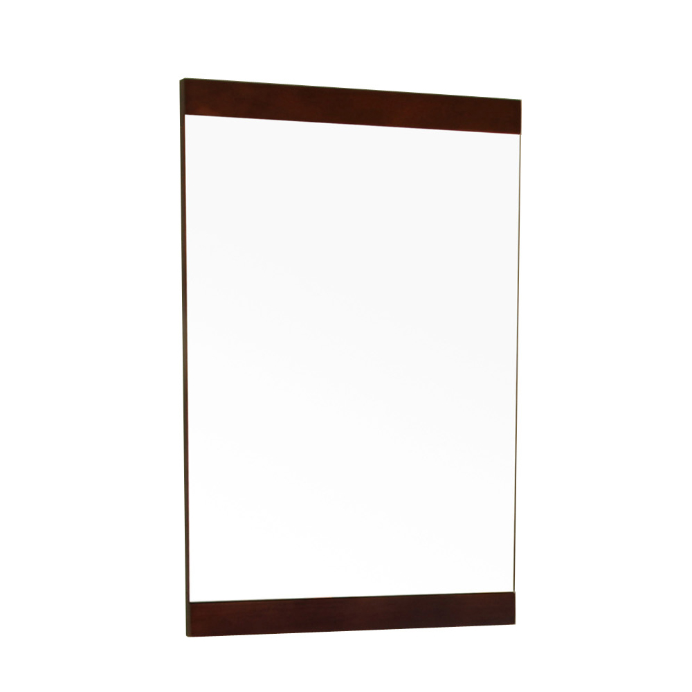 19.7 in Mirror-Dark walnut-wood - BellaTerra 804381-MIRROR