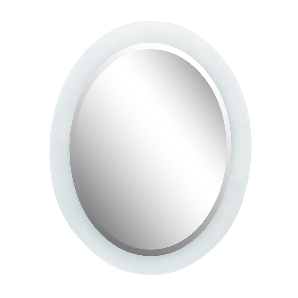 "23"" Oval Frosted Frame Mirror - BellaTerra 808301-M"