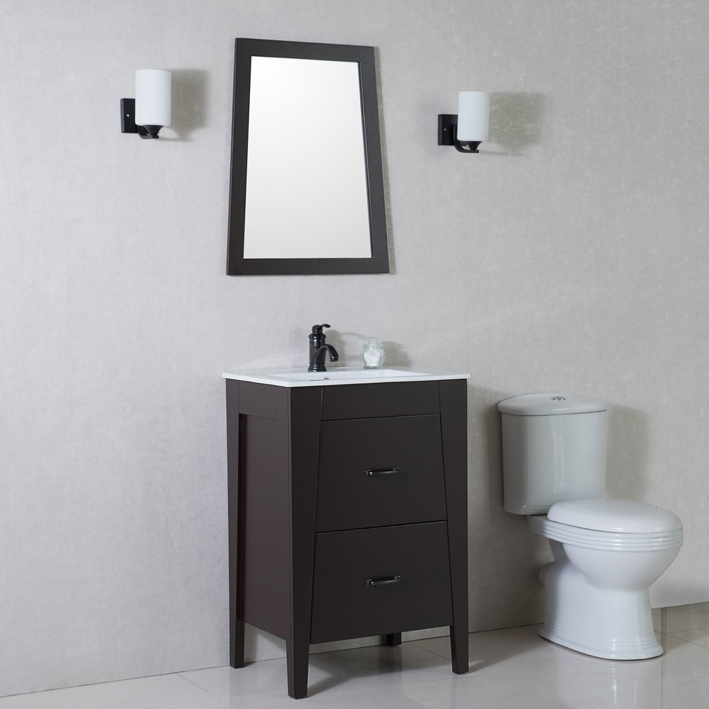 24 in Single sink vanity-manufactured wood-espresso - BellaTerra 9008-24-ES