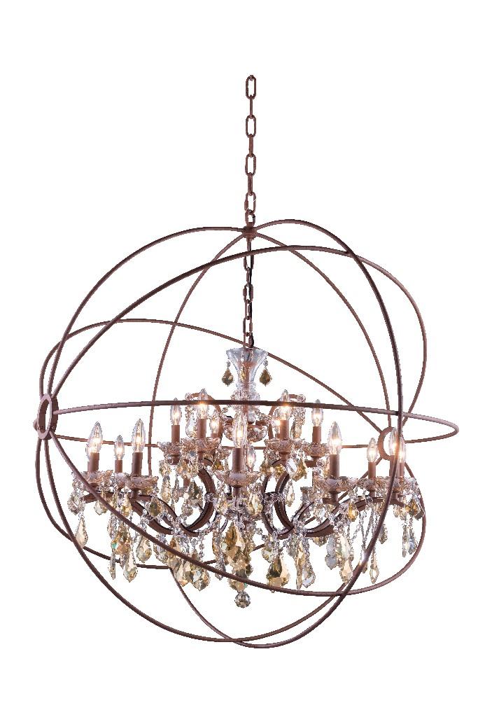 Lighting Rustic Chandelier Light Teak