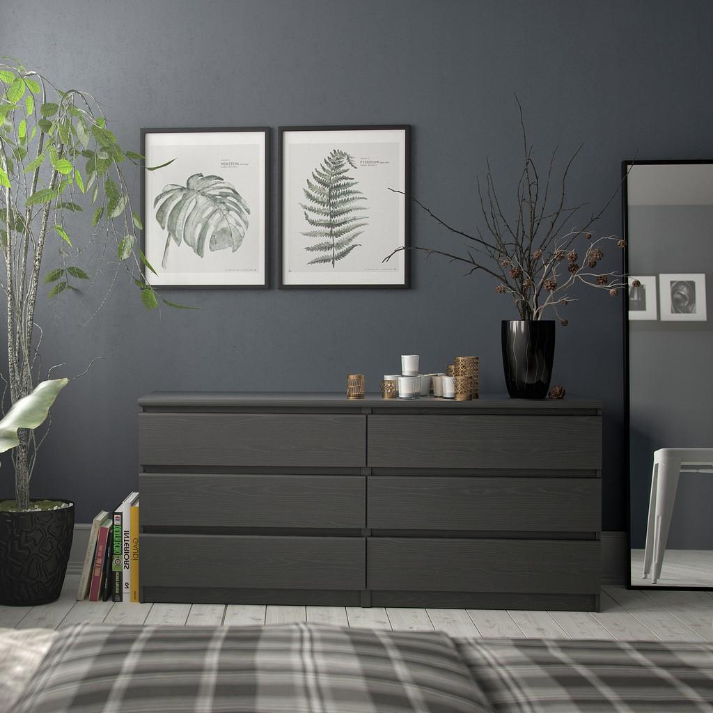 Scottsdale 6 Drawer Double Dresser in Black Wood Grain - Tvilum 7029661 Image