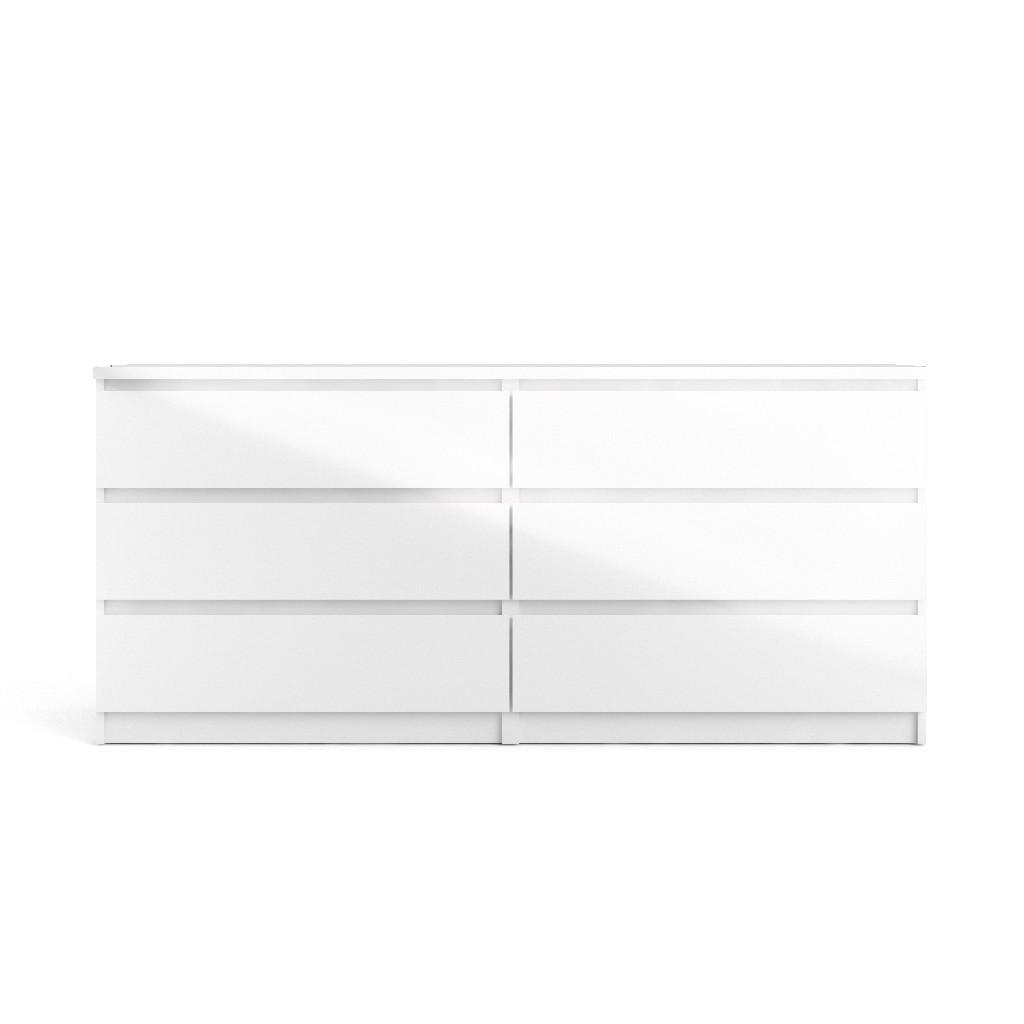 Scottsdale 6 Drawer Double Dresser in White High Gloss - Tvilum 70296uu Image