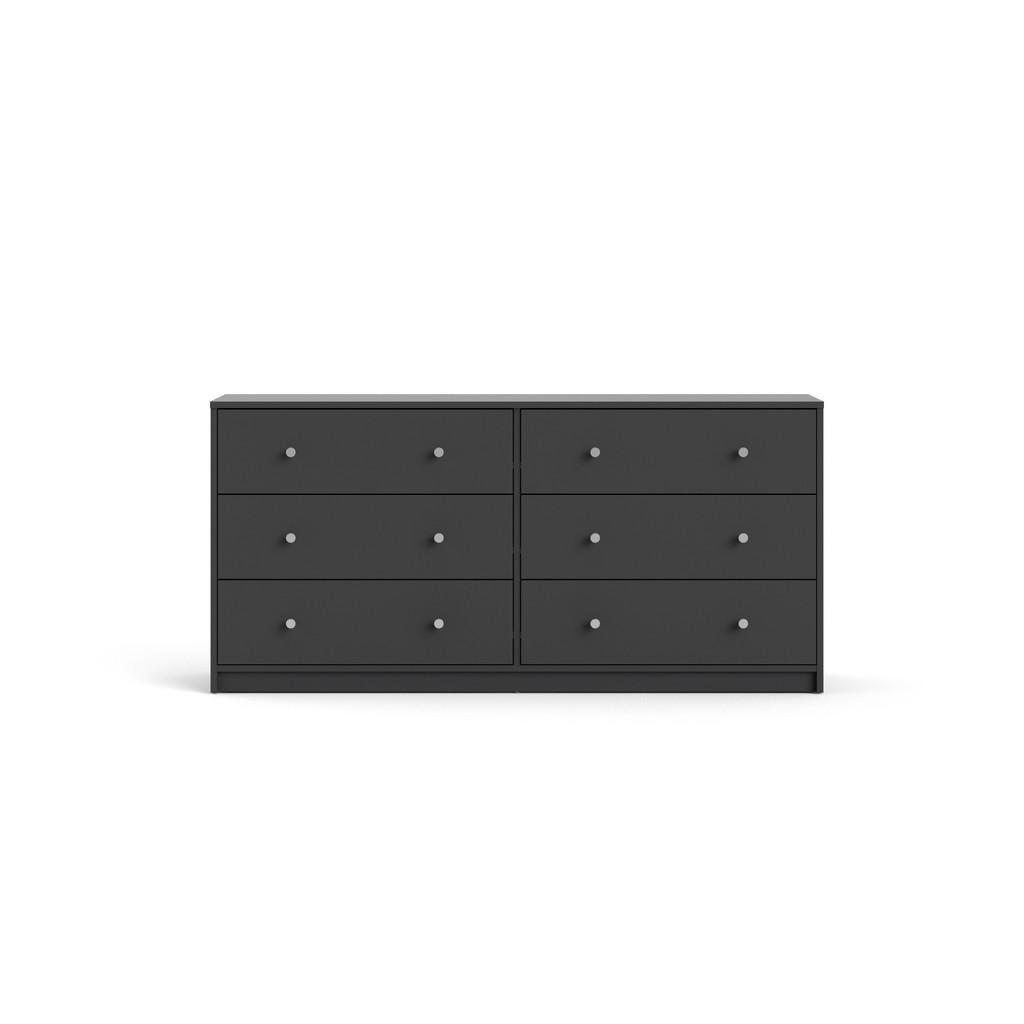 Portland 6 Drawer Double Dresser in Grey - Tvilum 70328cncn Image