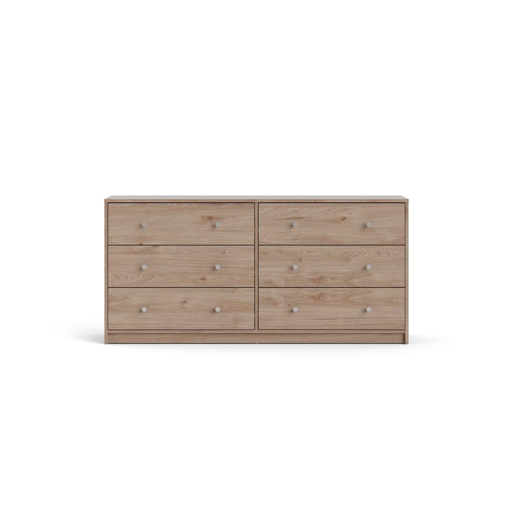 Portland 6 Drawer Double Dresser in Jackson Hickory - Tvilum 70328hlhl Image