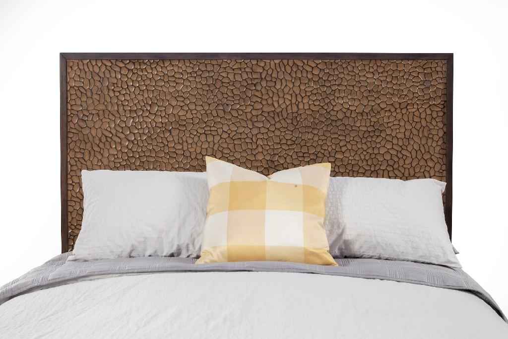 Brown Pearl California King Headboard in Brown Bronze - Alpine Furniture 1859-07CK-HB