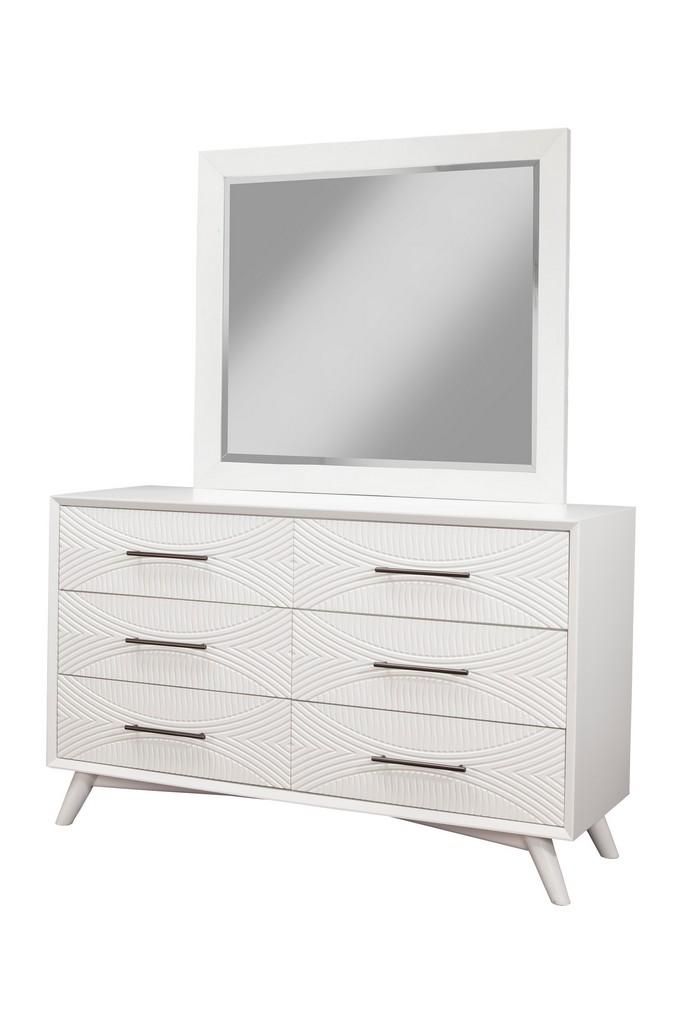 Tranquility Mirror In White - Alpine Furniture 1867-06